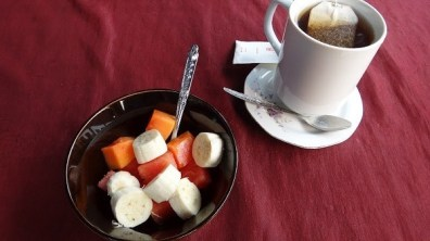 Villa Suan Maak - Breakfast Fruit Salad and Tea